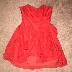Shoshanna Silk Strapless Mini Cocktail Dress 6